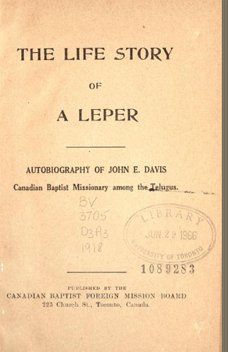 Image du Livre - The life story or a leper